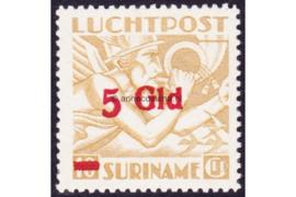 Suriname NVPH LP26a Postfris FOTOLEVERING (5 Gulden op 10 Gulden) Mercurius Overdrukken 1945