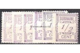 Alle kleuren: NVPH 65 Postfris FOTOLEVERING (1/2 cent / Tinten lila, paars en blauw) Hulpuitgifte 1912
