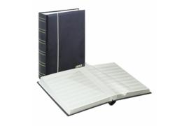 Lindner Insteekalbum Luxe/Luxus Nubuk (60 blz.) Witte bladen/Zwarte kaft (Lindner 1180-S)