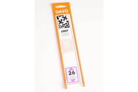 DAVO Easy stroken transparant T26 (215 x 30) 25 stuks
