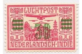 NVPH LP12 Ongebruikt Opdruk in groen op luchtpostzegel der uitgifte 1928
