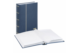 Lindner Insteekalbum Elegant/Luxe 64 blz. Witte bladen/Blauwe kaft (Lindner 1175-B)