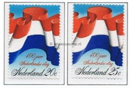 NVPH 1010-1011  Postfris 400 jaar Nederlandse vlag