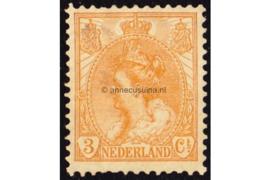 Nederland NVPH 56 Ongebruikt (3 cent) Koningin Wilhelmina (bontkraag) 1899-1921
