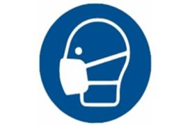 """Herma Gebodsticker """"Mondkapje Dragen"""" (ø 10cm) 1 Sticker (Herma 12929PS)"""