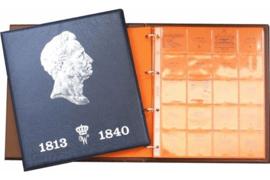 Hartberger Blauw Luxe Voordrukalbum Willem 1813-1840 deel 1
