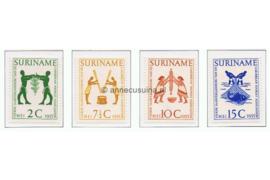 Suriname NVPH 317-320 Postfris 4e Jaarvergadering Carribean Tourist Association 1955