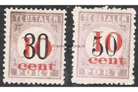 NVPH P15-P16 Ongebruikt FOTOLEVERING Hulpuitgifte. Postzegels der uitgifte 1886, plaatselijk overdrukt in rood 1911