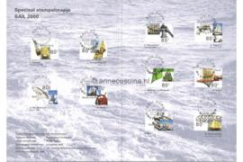 Nederland Speciaal Stempelmapje Sail 2000 PTT Post NVPH 1909-1918 Gestempeld