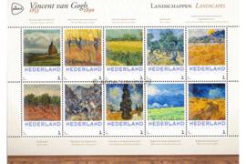 Nederland NVPH 3012-F-3 Postfris Overige velletjes (Persoonlijke Postzegels) Velletje Landschappen Vincent van Gogh 1853-1890 2015