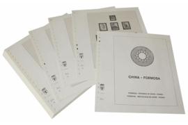 Lindner Inhouden / T-Voordruk albumbladen met folie voorbladen met stroken (Inhoud) China-Taiwan (Formosa) 1970-1975 (incl. Portzegels 1948-1998) (36 bladen) (Lindner 164-70)