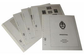 Lindner Inhouden / T-Voordruk albumbladen met folie voorbladen met stroken (Inhoud) Argentinië 1970-1977 (27 bladen) (Lindner 461)