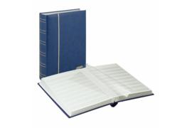 Lindner Insteekalbum Luxe/Luxus Nubuk (60 blz.) Witte bladen/Blauwe kaft (Lindner 1180-B)