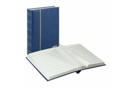 Lindner Insteekalbum (60 blz.) Witte bladen/Blauwe kaft (Lindner 1180-B)