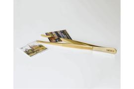SPECIALE EDITIE! Lindner Pincet 24 Karaat Verguld 12cm met ronde punt in etui (Lindner S2032G)