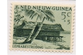 NVPH 41 Postfris (5+5 cent) Leprazegels 1956