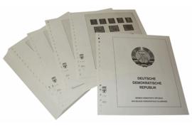 Lindner Inhouden / T-Voordruk albumbladen met folie voorbladen met stroken (Inhoud) Duitse Democratische Republiek 1963-1968 (58 bladen) (Lindner 121B)