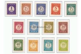 Nederlands Indië NVPH P53-P65 Ongebruikt Cijfers in gewijzigde tekening 1946