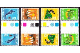 Nederlandse Antillen NVPH 576a-579a Postfris FOTOLEVERING Keerdrukken MET KLEURSYMBOLEN Sport 1978