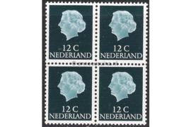 Nederland NVPH 618b Postfris FOSFOR (12 cent) (Blokje van vier) Koningin Juliana En Profil Lage waarden 1953-1967