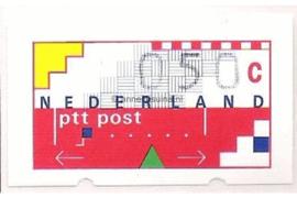 Nederland NVPH AU3 Postfris (50 cent) Automaatstroken, Voordrukzegel voor Klüssendorf-automaat 1996