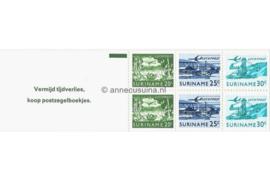 Republiek Suriname Zonnebloem PB 2a Postfris Postzegelboekje 2 x 20 ct + 2 x 25 ct + 2 x 30 ct en met tekst 1976