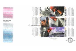 NVPH E409 Hoogtepunten uit de 20e eeuw op 2 enveloppen 1999