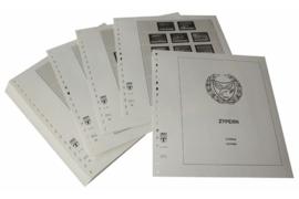Lindner Inhouden / T-Voordruk albumbladen met folie voorbladen met stroken (Inhoud) Cyprus 1985-2003 (46 bladen) (Lindner 295-85)