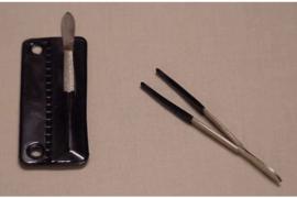 Kobra  Muntpincet  met kunstof behuizing (Kobra K-P7)