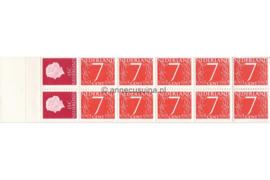 Nederland NVPH PB 1H2 Postfris Postzegelboekje 10 x 7ct cijfer v. Krimpen + 2 x 15ct Juliana 1964