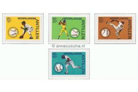 Nederlandse Antillen NVPH 771-774 Postfris Sport, baseball 1984