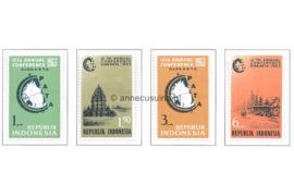 Indonesië Zonnebloem 383-386 Postfris De 12e Conferentie van de Pacific Aera Travel Association (PATA) 1963