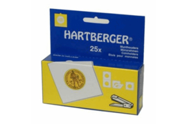 Hartberger Munthouders om te nieten Vierkant maat 24 mm (25 stuks)