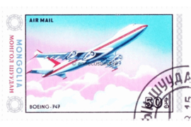 Mongolië Michel 1629 Gestempeld Vliegtuigen 1984