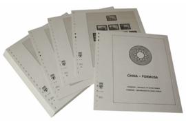 Lindner Inhouden / T-Voordruk albumbladen met folie voorbladen met stroken (Inhoud) China-Taiwan (Formosa) 1995-2000 (incl. Portzegels 1948-1998) (44 bladen) (Lindner 164-95)