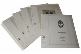 Lindner Inhouden / T-Voordruk albumbladen met folie voorbladen met stroken (Inhoud) Argentinië 1992-1998 (41 bladen) (Lindner 461-92)
