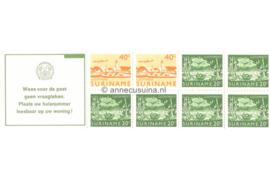 Republiek Suriname Zonnebloem PB 3bq Postfris Postzegelboekje 2 x 40 ct + 6 x 20 ct en met tekst 1978