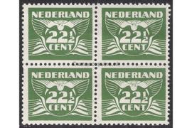 Nederland NVPH 387 Postfris (22 1/2 cent) (Blokje van vier) Vliegende duif 1941
