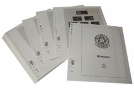 Lindner Inhouden / T-Voordruk albumbladen met folie voorbladen met stroken (Inhoud) Brazilië 1994-2000 (46 bladen) (Lindner 480-94)