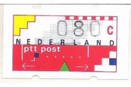 SPECIALITEIT! Nederland NVPH AU9 Gestempeld MET RUGNUMMER 0080 (80 cent) Automaatstroken, Voordrukzegel voor Klüssendorf-automaat 1996