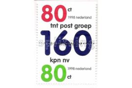 NVPH 1768-1769a (Paar) Postfris Splitsing KPN 1998