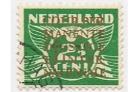 Nederland NVPH D10 Gestempeld (2 1/2 cent) Opdruk COUR PERMANENTE DE JUSTICE INTERNATIONALE in goud op zegels van de uitgifte 1926-1935, 1926-1939 en 1933
