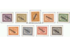 NVPH D8-D16  Ongebruikt (bep. serie) Frankeerzegels der uitgifte 1883 overdrukt in zwart