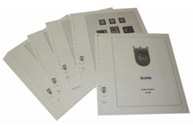 Lindner Inhouden / T-Voordruk albumbladen met folie voorbladen met stroken (Inhoud) Aland 1984-2015 (48 bladen) (Lindner 129A)