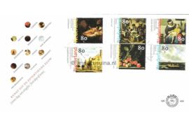 NVPH E404 17e Eewse Nederlandse schilderkunst op 2 enveloppen 1999