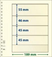Lindner T-Blanco blad met 4 stroken (Lindner 802401) (per stuk)
