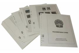Lindner Inhouden / T-Voordruk albumbladen met folie voorbladen met stroken (Inhoud) China Volksrepubliek 1981-1986 (55 bladen) (Lindner 159-81)