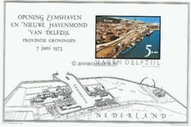 Postfris Zegelvel Ongetande versie f 5,-- Opening Eemshaven en nieuwe havenmond van Delfzijl