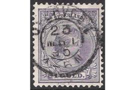 OVERVEEN 23-3-1895 op NVPH 44 FOTOLEVERING