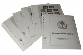Lindner Inhouden / T-Voordruk albumbladen met folie voorbladen met stroken (Inhoud) Brits Antarctische Gebieden 1963-2008 (51 bladen) (Lindner 405)